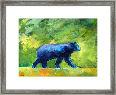 Prowling Framed Print by Nancy Merkle