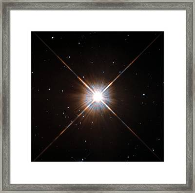 Proxima Centauri Star Framed Print by Nasa