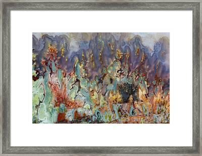 Prudent Man Agate, Origin Idaho Framed Print by Darrell Gulin