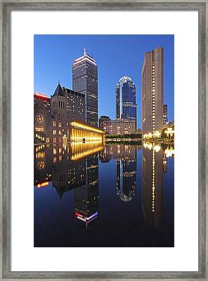 Prudential Center At Night Framed Print by Juergen Roth