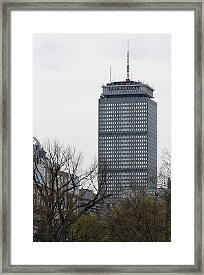 Prudential Tower Framed Print