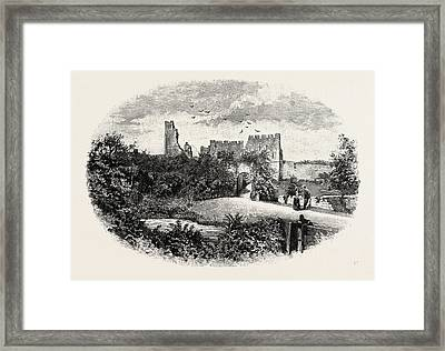 Prudhoe Castle,  Is A Ruined Medieval English Castle Framed Print