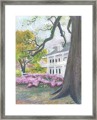 Prudhomme-rouquier House In Natchitoches Framed Print by Ellen Howell
