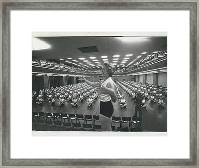 Prunella Stack Leads Health And Beauty League Anniversary Framed Print by Retro Images Archive