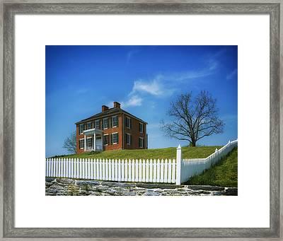 Pry House - Antietam Battlefield Framed Print