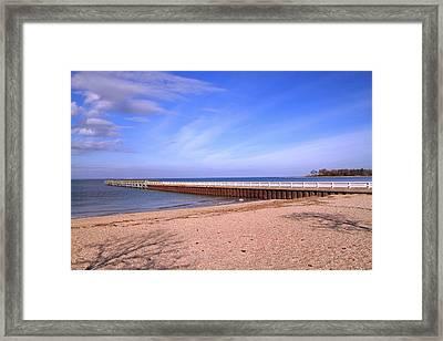 Prybil Beach Pier Framed Print by Bob Slitzan