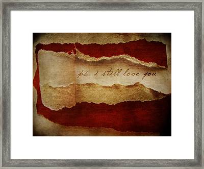PS Framed Print by Larysa  Luciw