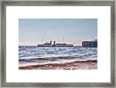 Ps Waverley Leaves Penarth Pier 2 Framed Print by Steve Purnell