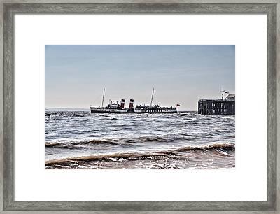 Ps Waverley Leaves Penarth Pier Framed Print by Steve Purnell