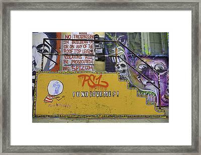 Ps1 Graffiti Framed Print by E Osmanoglu
