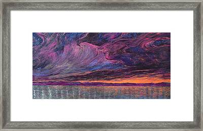 Psalm 104 3 Framed Print by J Michael Orr