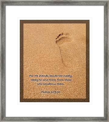 Psalm 109 31 Framed Print
