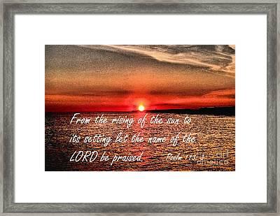 Psalm 113  3 Inspirational Art By Saribelle Rodriguez Framed Print by Saribelle Rodriguez