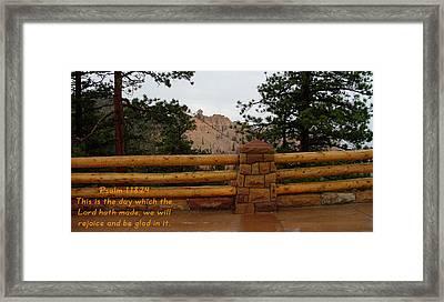 Bryce Canyon N. P. Psalm 118-24 Framed Print