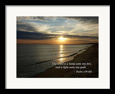 Your Word Is A Lamp To My Feet And A Light For My Path Framed Prints