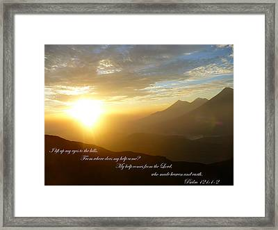 Psalm 121 1 2 C Framed Print by Nicki Bennett