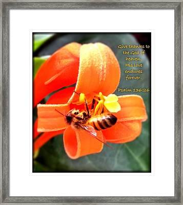 Psalm 136 26 Framed Print