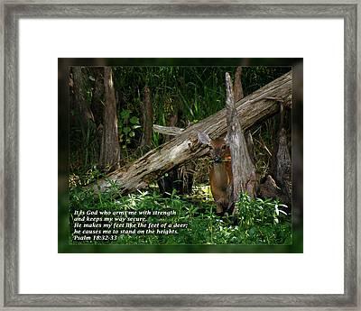 Psalm 18 32-33 Framed Print