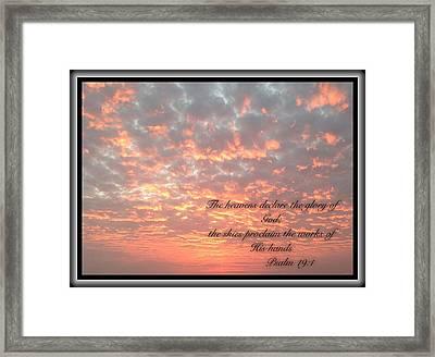 Psalm 19 11 Framed Print