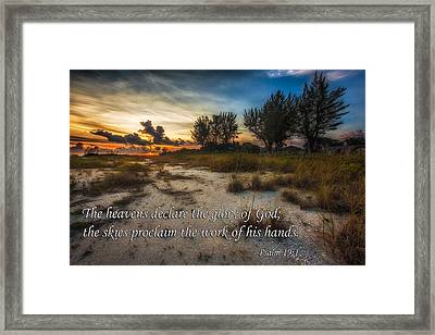 Framed Print featuring the photograph Psalm 19 by Joshua Minso