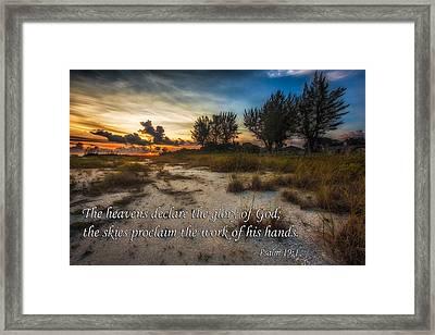 Psalm 19 Framed Print