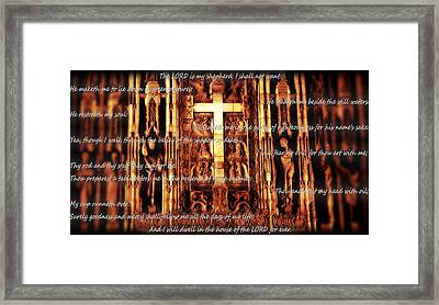 Psalm 23 Church Interior Framed Print by Dan Sproul