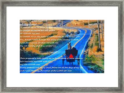 Psalm 23 Country Roads Framed Print by Dan Sproul