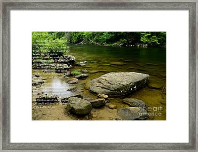Psalm 23 Cranberry River Framed Print by Thomas R Fletcher