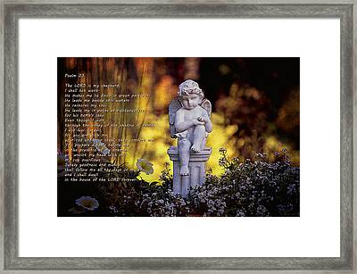 Psalm 23 Framed Print by Maria Angelica Maira
