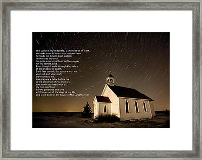 Psalm 23 Night Photography Star Trails Framed Print by Mark Duffy