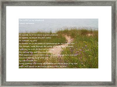 Psalm 23 Path  Framed Print by Dan Sproul