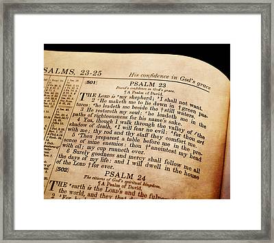 Psalm 23 - The Lord Is My Shepherd Framed Print