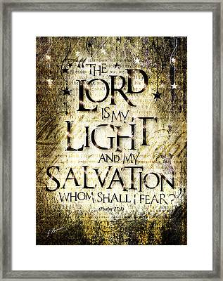 Psalm 27 Framed Print by Gary Bodnar