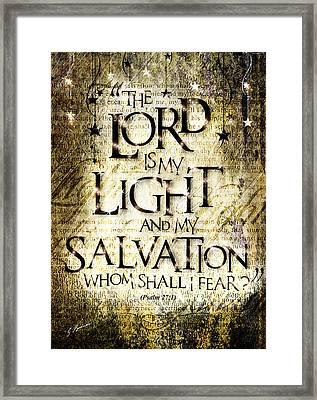 Psalm 27 Framed Print