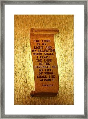 Psalm 27 Framed Print by James Hammen