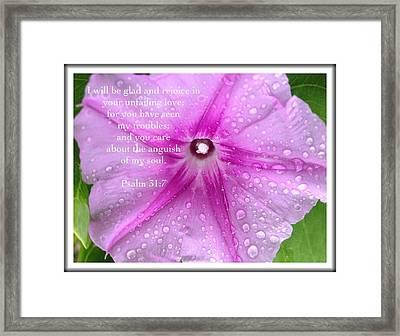 Psalm 31 7 Framed Print