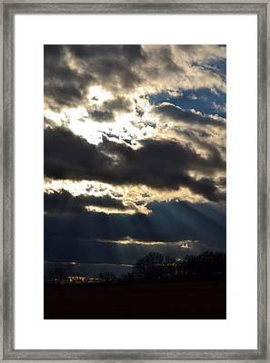 Psalm 36 5 Framed Print by Carlee Ojeda