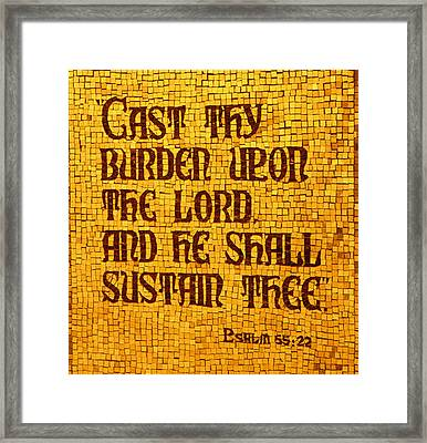 Psalm 55 Framed Print by James Hammen