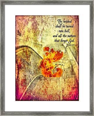 Psalm 9 17 Framed Print