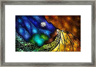 Psalm 91-4 Framed Print by Mandie Manzano