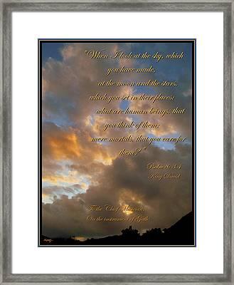 Psalm Eight Framed Print