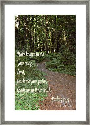 Psalm  - Paths Framed Print