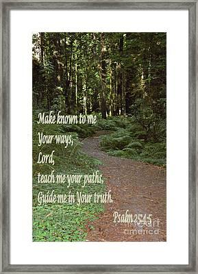 Psalm  - Paths Framed Print