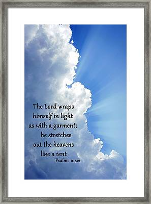 Psalms 104 2 Framed Print by Thomas Fouch
