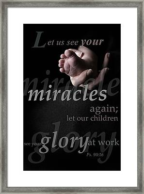 Psalms Composition Framed Print by Misty Bedwell