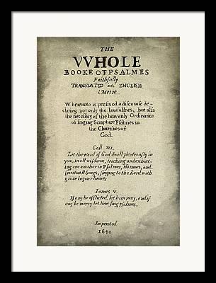 Biblio Framed Prints