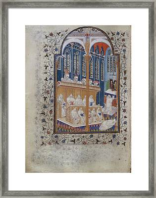 Psalter Of Henry Vi Framed Print by British Library