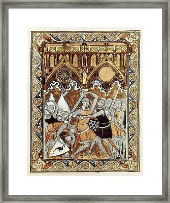 Psalter Of Saint Louis 13th C.. Abraham Framed Print by Everett