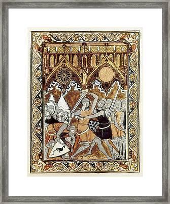 Psalter Of Saint Louis 13th C.. Abraham Framed Print