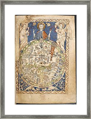 Psalter World Mappa Mundi Framed Print by British Library